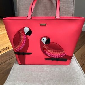 NWT Kate Spade talk the talk Parrot tote
